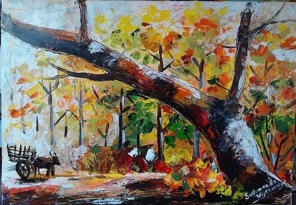 Wall Art - Painting - Strenght Of Life by Sudumenike Wijesooriya