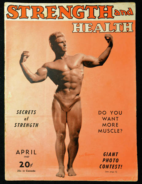 Wall Art - Pyrography - Strength And Health April 1947 by David Lee Thompson