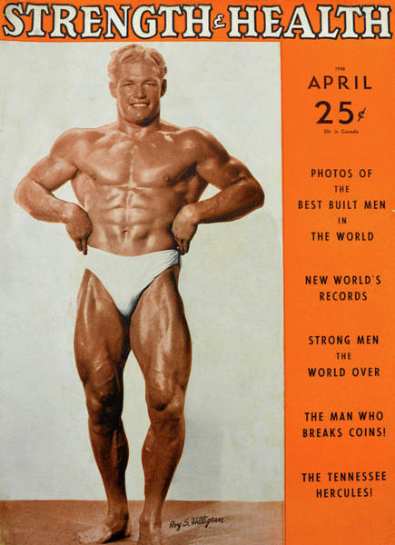 Wall Art - Photograph - Strength And Health Mag April 1948 by David Lee Thompson
