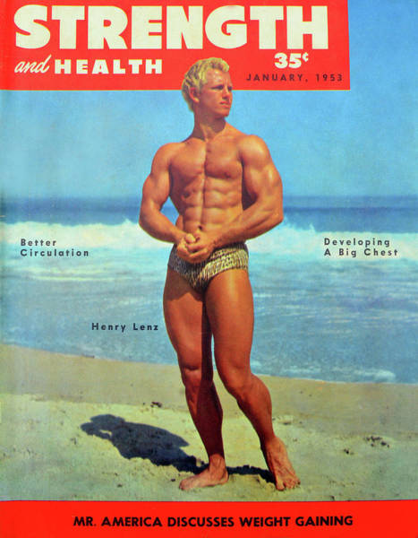 Wall Art - Photograph - Strength And Health Mag Jan 1953 by David Lee Thompson