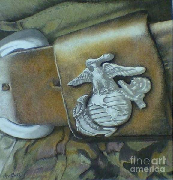 Wall Art - Drawing - Strength Courage And Faithfulness  by Lisa Bell
