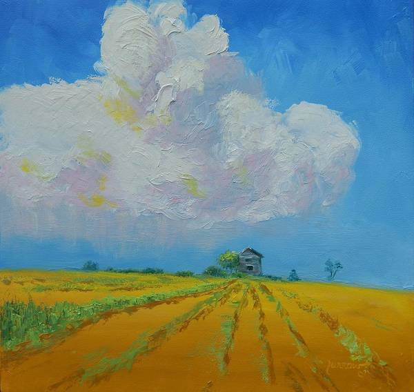 Mustard Field Painting - Strength For The Journey Ahead by Sue Furrow