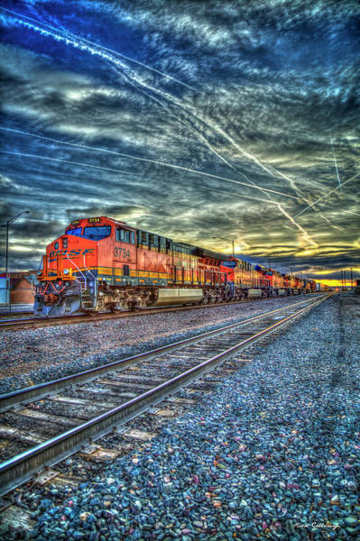 Wall Art - Photograph - Strength In Numbers S N S F Locomotive 3734 Gallup New Mexico Train Art by Reid Callaway