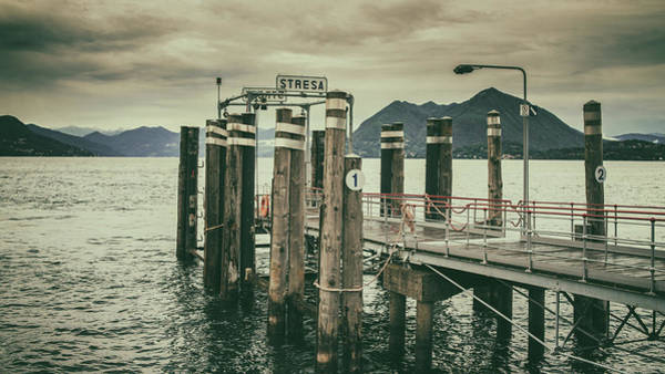 Photograph - Stresa Dock by James Billings