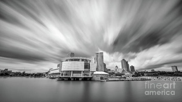 Mke Photograph - Stretching Out A Milwaukee Afternoon - Bw by Andrew Slater