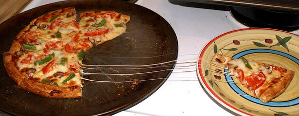 Photograph - Stretchy Cheese On My Pizza by Ben Upham III