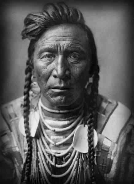 Wall Art - Photograph - Strike On His Head - Crow Warrior 1908 by Daniel Hagerman
