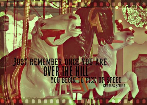 Photograph - Striking Carousel Quote by Dressage Design