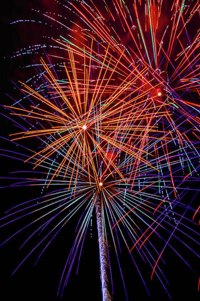 Fireworks Display Wall Art - Photograph - Striking Fireworks by Garry Gay