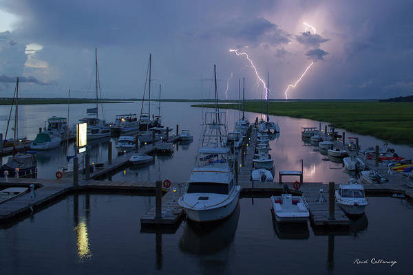 Photograph - Striking Tybee Island Lightning  by Reid Callaway