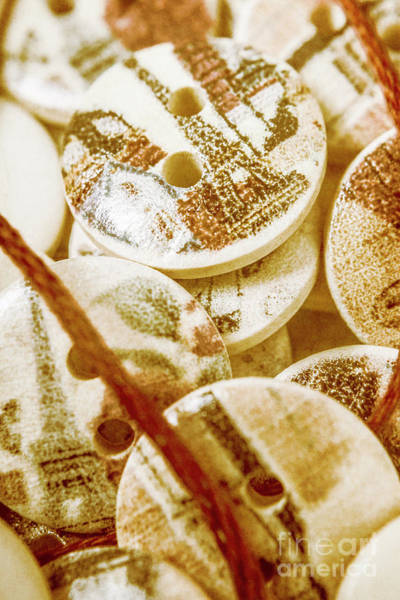 Repair Photograph - String Of Buttons by Jorgo Photography - Wall Art Gallery