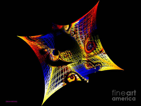 Digital Art - String Theory by Claire Bull
