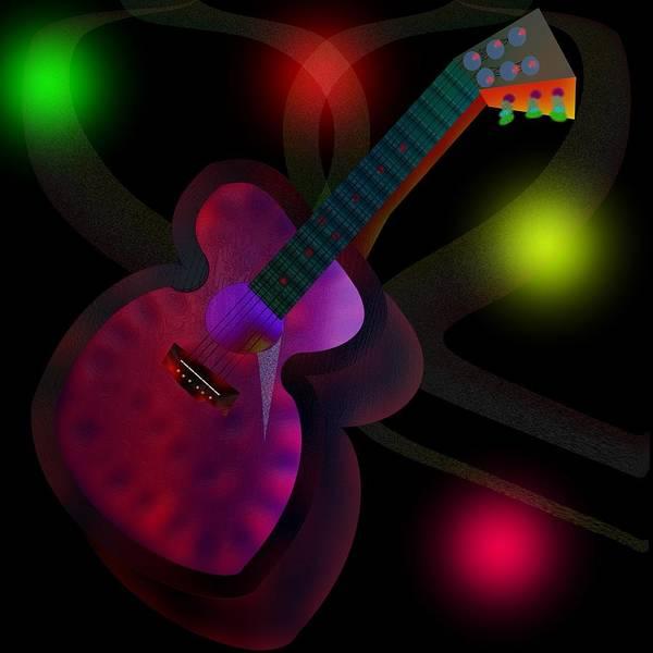 Digital Art - Stringed Instrument by Bukunolami Olamilokun
