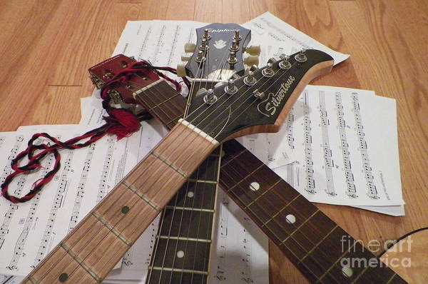 Fret Board Photograph - Strings And Things by Gina Sullivan