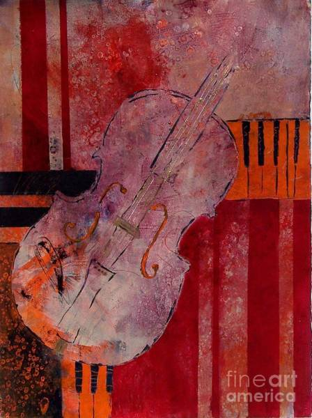 Musical Theme Painting - Strings by Donna Frost