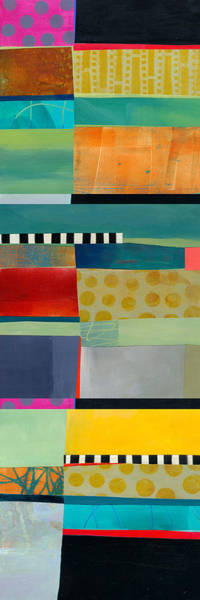 Abstract Acrylic Painting - Stripe Assemblage 2 by Jane Davies