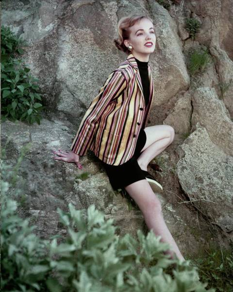 Photograph - Striped Blazer On The Rocks by Cliffod Coffin