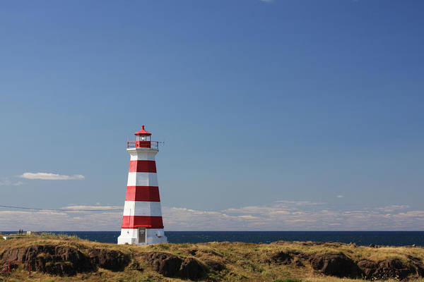 Photograph - Striped Lighthouse - Briar Island by Tatiana Travelways