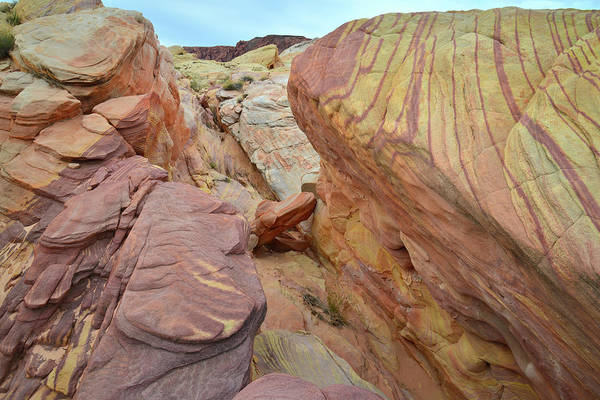 Photograph - Striped Sandstone Slot Canyon In Valley Of Fire by Ray Mathis