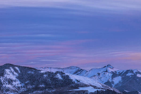 Photograph - Striped Sky At Day's End by Denise Bush