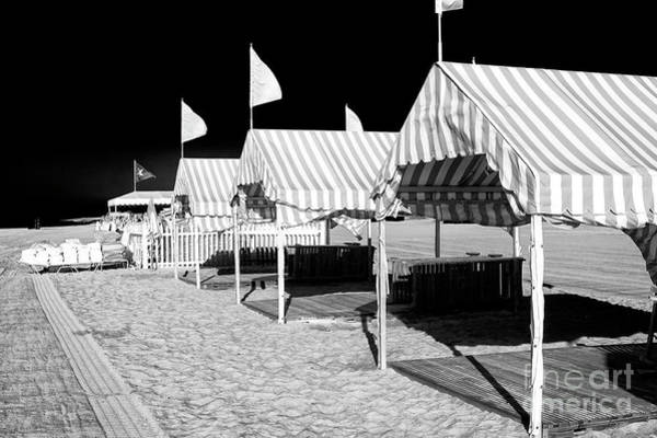 Photograph - Striped Tents At Cape May by John Rizzuto
