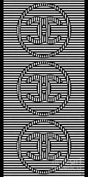 Vogue Mixed Media - Stripes Black And White by Daniel Janda