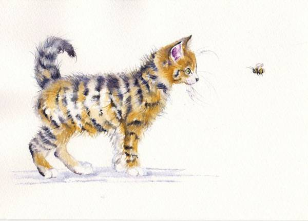 Wall Art - Painting - Stripey Creatures by Debra Hall