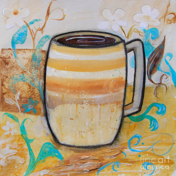 Painting - Stripped Mug by Robin Maria Pedrero
