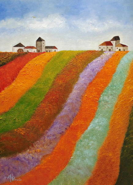 Painting - Stripy Valley by Angeles M Pomata
