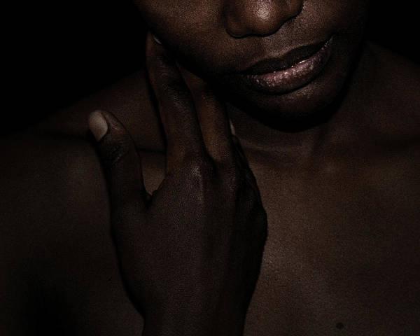 Photograph - Stroking Cheek by David Kleinsasser