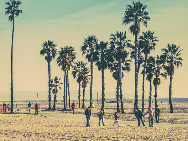 Angeles Photograph - Stroll Down Venice Beach by Az Jackson