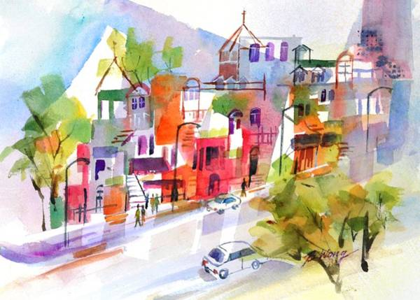 Painting - Stroll In Montreal by Betty M M Wong