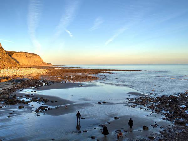 Dog Walker Photograph - Stroll On The Beach by Sharon Lisa Clarke