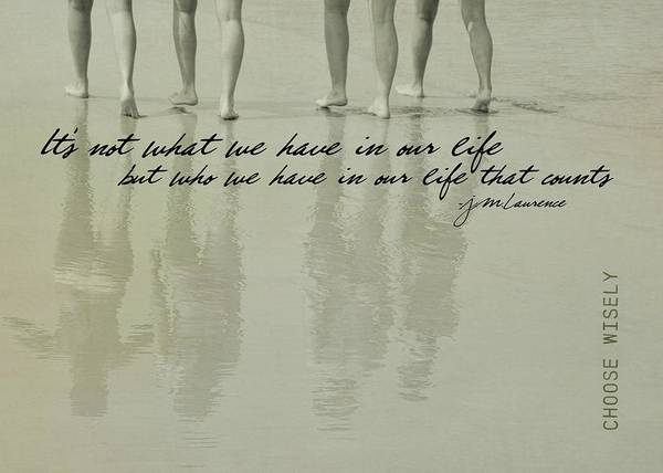 Photograph - Strolling Shadows Quote by Jamart Photography