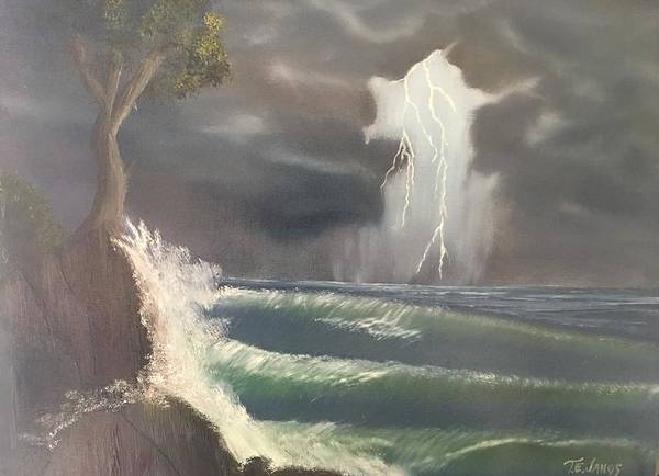 Painting - Strong Against The Storm by Thomas Janos