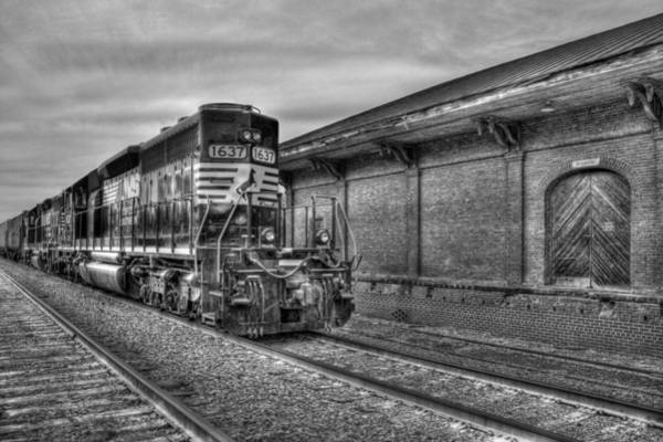 Norfolk Southern Wall Art - Photograph - Strong Iron Locomotive 1637 Norfolk Southern by Reid Callaway
