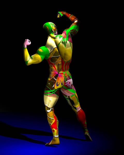Digital Art - Male Model Studio Man Render 13 by Carlos Diaz