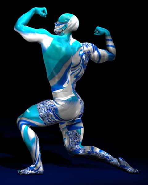 Digital Art - Male Model Studio Man Render 12 by Carlos Diaz