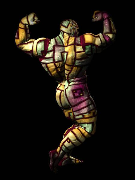 Sportsman Digital Art - Studio Man Render Series 11 by Carlos Diaz