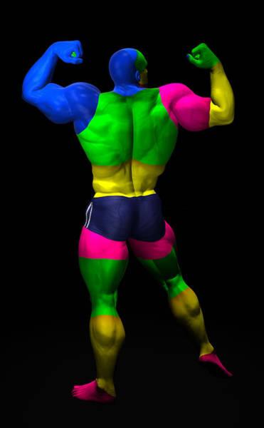 Sportsman Digital Art - Studio Man Render 10 by Carlos Diaz