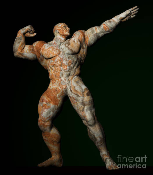 Sportsman Digital Art - Studio Man Render 26 by Carlos Diaz