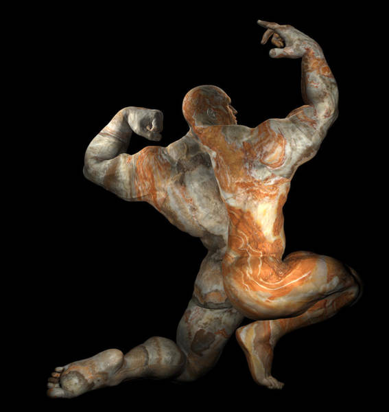 Digital Art - Studio Man Render 24 by Carlos Diaz