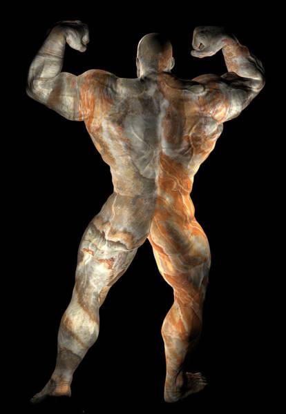 Sportsman Digital Art - Studio Man Render 23 by Carlos Diaz