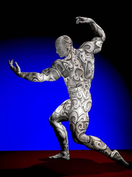Sportsman Digital Art - Studio Man Render 22 by Carlos Diaz