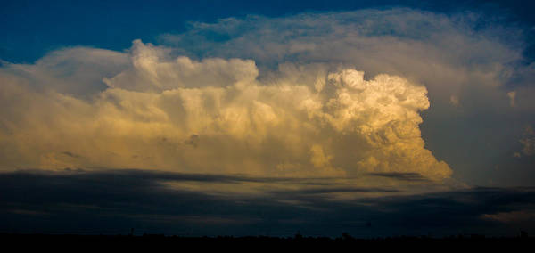 Photograph - Strong Nebraska Thunderstorm Cells 005 by NebraskaSC