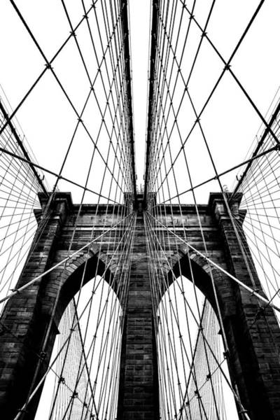 Suspension Bridge Photograph - Strong Perspective by Az Jackson