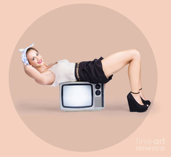 Workout Photograph - Strong Pinup Girl Doing Fitness Exercises by Jorgo Photography - Wall Art Gallery