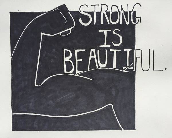 Wall Art - Drawing - Strong by Sara Young