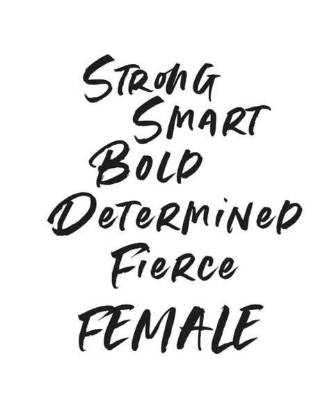 Wall Art - Digital Art - Strong Smart Bold Female- Art By Linda Woods by Linda Woods
