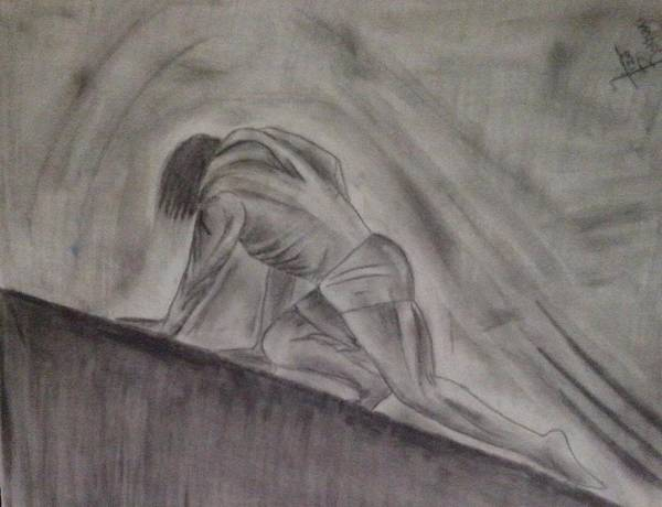 Yourself Drawing - Struggle by Syeda  Fiza